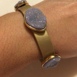 Chico's Faux Druzy Lavender Bracelet Magnet